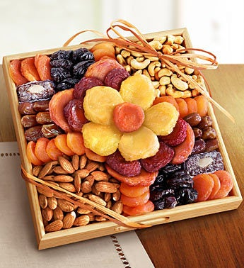 Flower in Bloom Gourmet Fruit  Nuts