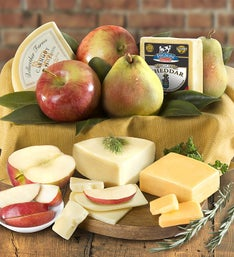Fresh Fruit & Cheese Gourmet Basket - gluten free