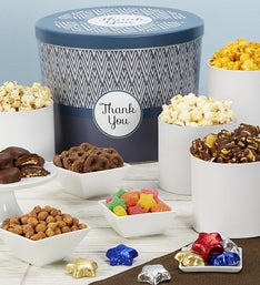 Popcorn Factory Simply Stated Thank You Snack Tin