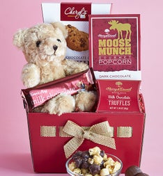 My Huggable Bear & Sweets Basket