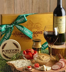 Father's Day Sausage & Cheese Box with Wine