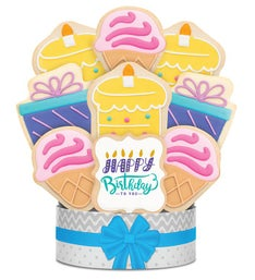 Birthday Celebration Cookie Bouquet