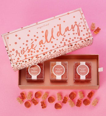 Sugarfina Rose All Day Candy Bento Box 3pc