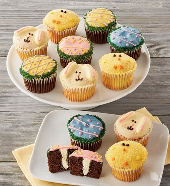 Happy Easter Decorated Cupcakes  12ct
