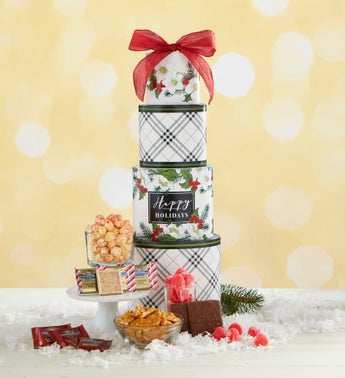 Seasons Best Holly Berry Sweets Gift Tower