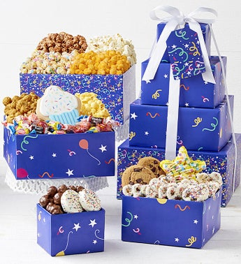 The Popcorn Factory Birthday Balloons 4-Tier Tower