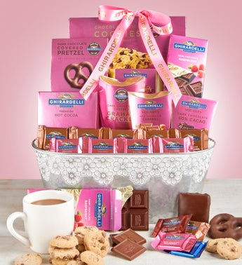 Ghirardelli Chocolates Gift Basket