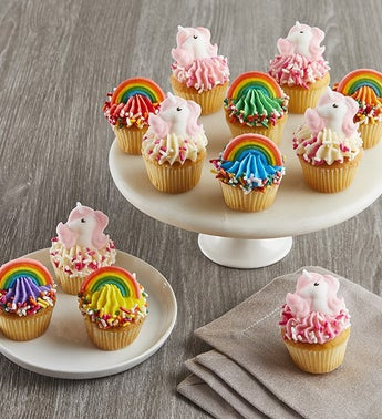 Little Whisk Mini Rainbow  Unicorn Cupcakes