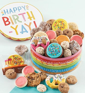 Musical Birthday Gift Tin - Treats Assortment
