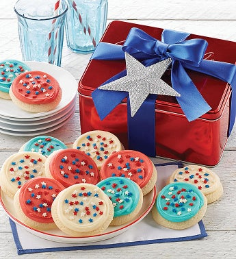 Patriotic Cut-out Gift Tin