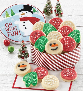 Snowman Gift Tin - Holiday Cut-outs