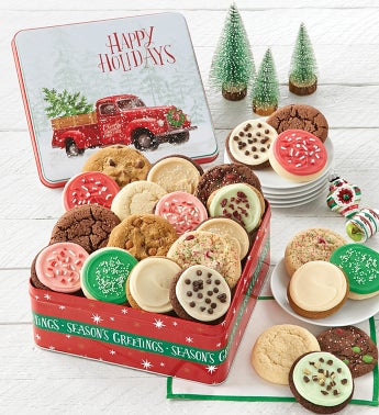 Grand Traditions Happy Holidays Gift Tin - Create Your Own Assortment