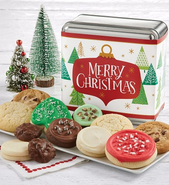 Merry Christmas Treats Gift Tin