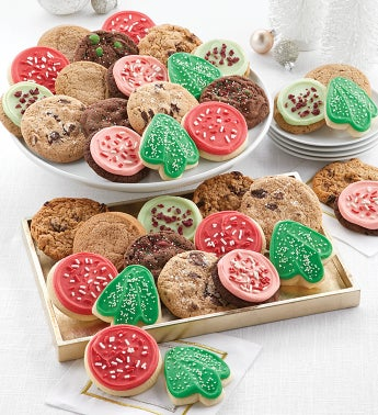 Bow Gift Box – 12 Classic Holiday Cookies