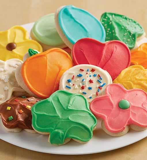 Buttercream Frosted Cut-out Cookie of the Month Pay-as-you-go Club – 12 cookies