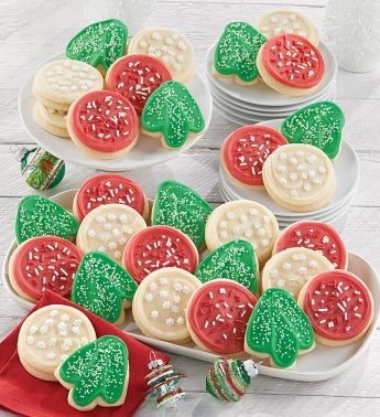 Bow Gift Box - Holiday Cut-outs - 72 Cookies