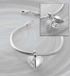 Chamilia® Bracelet with Secret Message Heart Charm