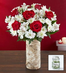 Glad Tidings Bouquet & Free Candle