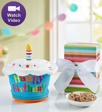Animated Birthday Cupcake with Cheryl's Cookies