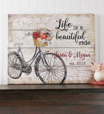 Personalized Life Is A Beautiful Ride Canvas