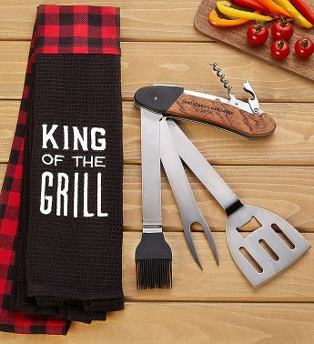 King of the Grill BBQ Gift Set