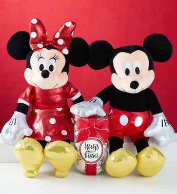 Ty Sparkle Mickey Loves Minnie with Chocolate