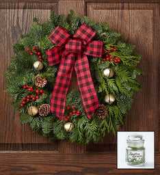 Woodland Winter Wreath + Free Candle