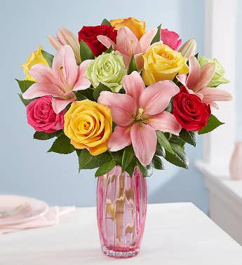 Fair Trade Certified Rainbow Rose & Lily