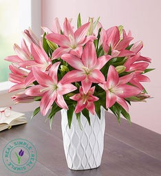 Pink Lilies by Real Simple®
