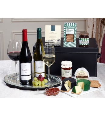 Deluxe Wine  Cheese Gift Box