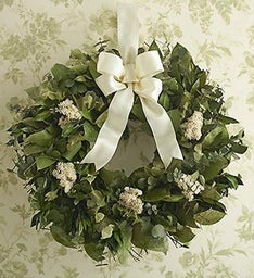 Preserved Dried Eucalyptus and Myrtle Wreath- 16""
