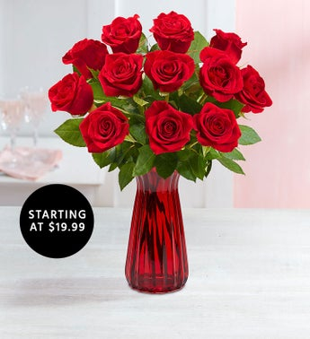 One Dozen Red Roses Starting at 1999