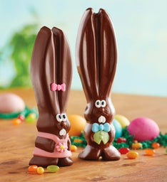 Mr. and Mrs. Ears the Milk Chocolate Easter Bunnies