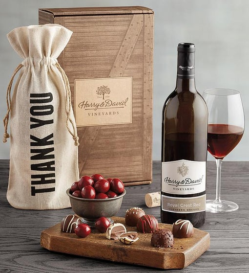 Thank You Red Wine Gift Box