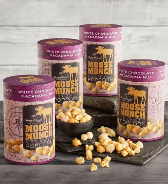 4-Pack Limited Edition Moose Munch174 Premium Popcorn - White Chocolate Macadamia Nut