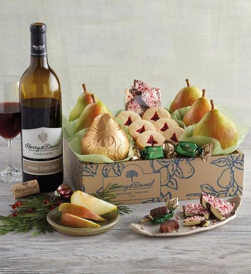 Christmas Gift Box with Wine