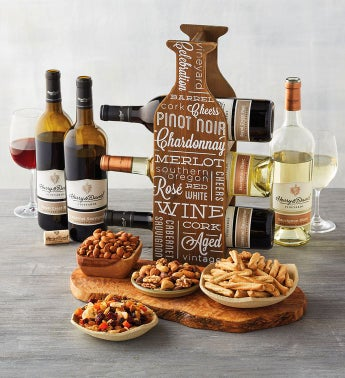 Wine Snacks and Wine Rack Gift