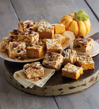 Pumpkin and Cranberry Bliss Bars