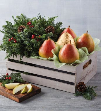 Royal Riviera® Pears and Holiday Centerpiece