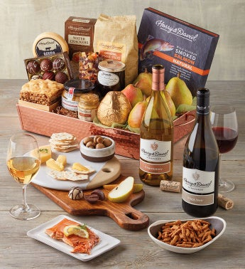 Copper Tray Gift with Wine