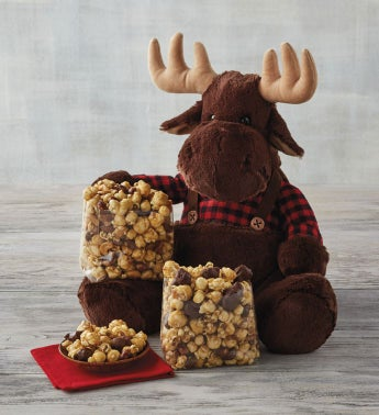 Moose Munch174 Premium Popcorn and Plush Moose Gift