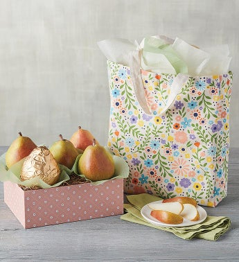 Mother39s Day Pears and Tote Gift