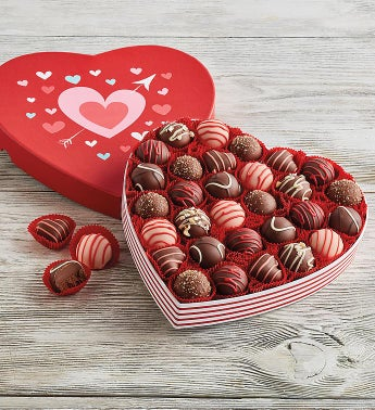 Chocolate Truffles in Valentine39s Day Heart Box