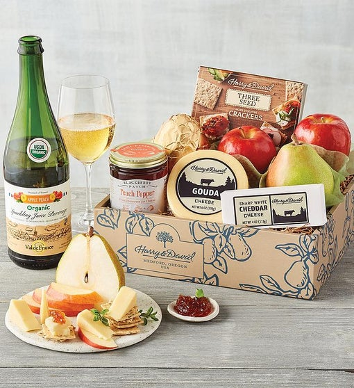 Sunny Days Fruit and Cheese Gift Box