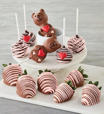 Chocolate-Covered Strawberries and Cake Pops