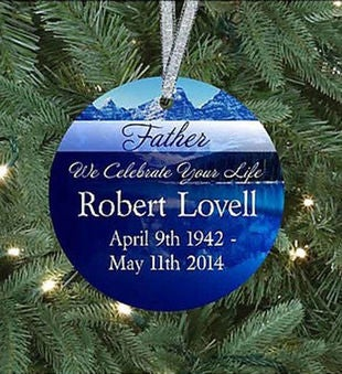 Father We Celebrate Your Life Memorial Ornament