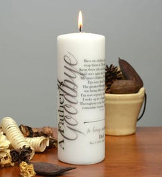 A Father's Goodbye Memorial Candle