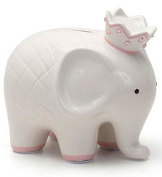 Personalized Hand-Painted Coco Elephant Bank