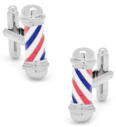 Classic Barber Shop Pole Cufflinks