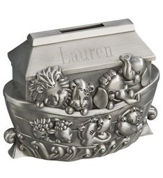 Personalized Noahs Ark Metal Bank